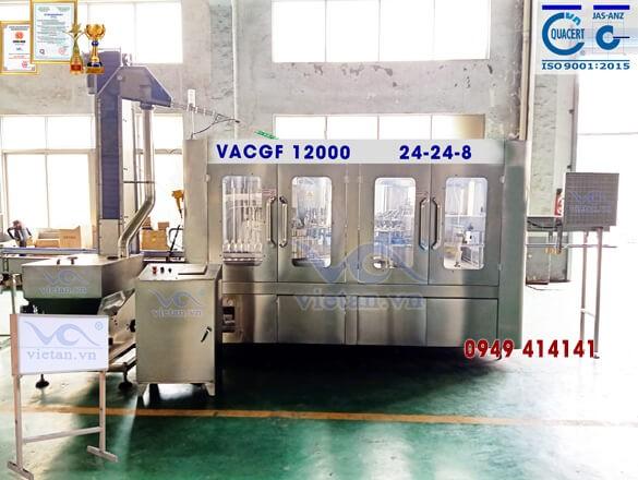 Máy chiết chai VACGF12000- 6 trong 1