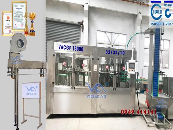 Máy chiết chai VACGF15000- 6 trong 1