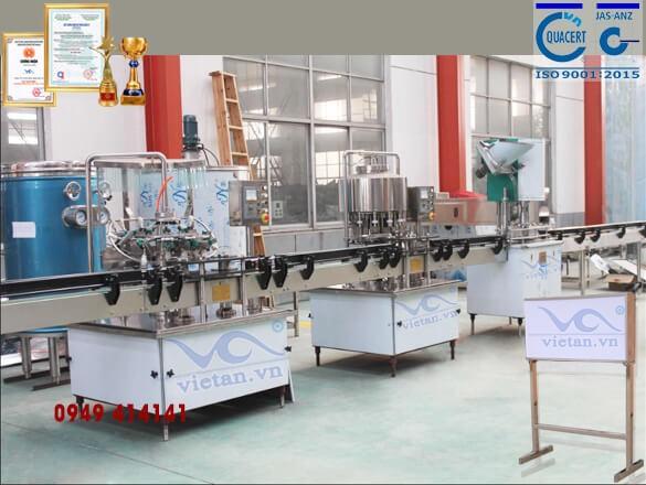Máy chiết chai VACGF2000- 4 trong 1