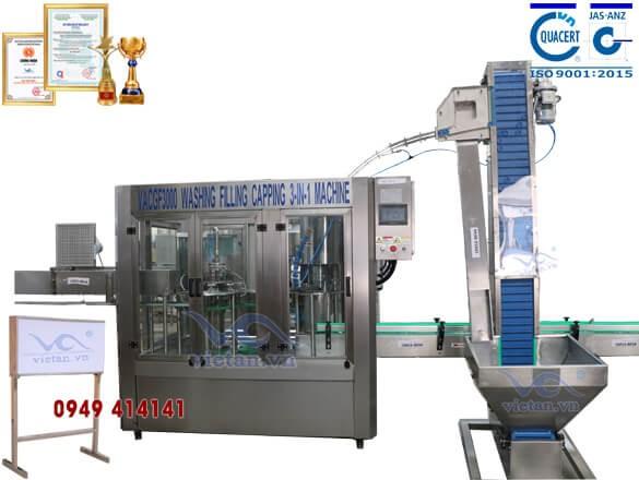 Máy chiết chai VACGF3000-6 trong 1