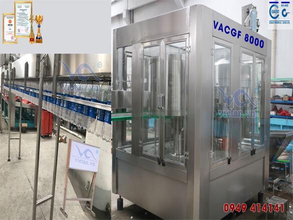 Máy chiết chai VACGF8000- 6 trong 1