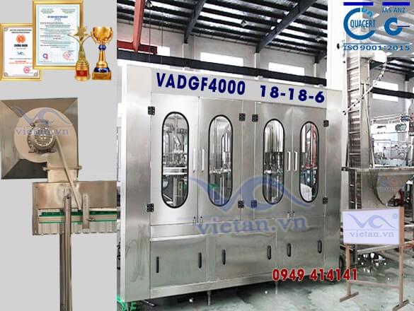 Máy chiết chai nước có ga 6 trong 1 VADGF4000