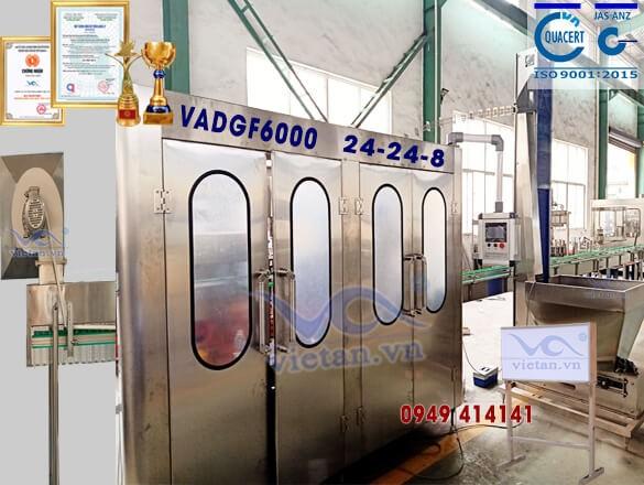 Máy chiết rót đẳng áp VADGF6000-6 in 1