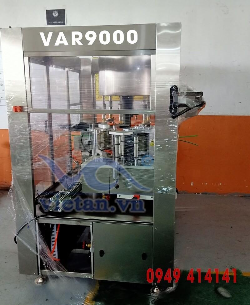 Máy dán nhãn tự động quay để dán nhãn chai tròn VAR9000