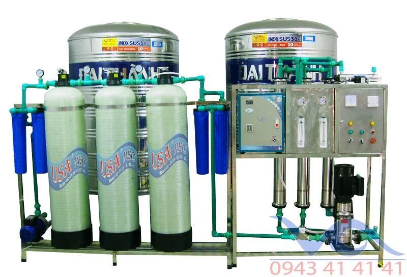 Dây chuyền lọc nước ro tinh khiết 1000 l/h VACC1000
