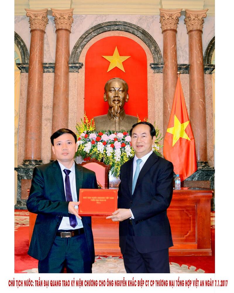 Diện kiến chủ tịch nước Trần Đại Quang