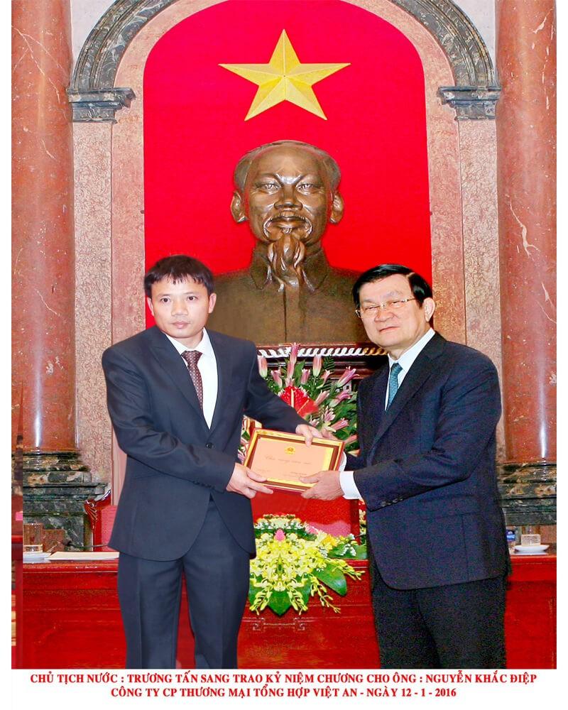 Diện kiến chủ tịch nước Trương Tấn Sang