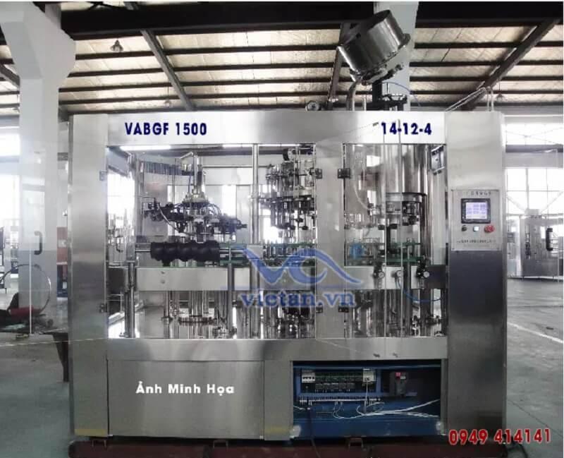 Máy chiết rót bia chai thủy tinh VABGF1500- 3 trong 1