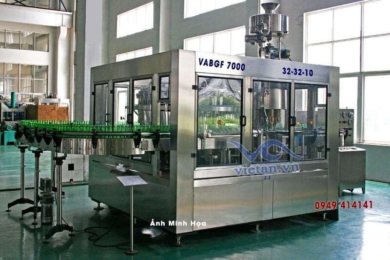 Máy chiết rót bia chai thủy tinh VABGF7000-3 in 1