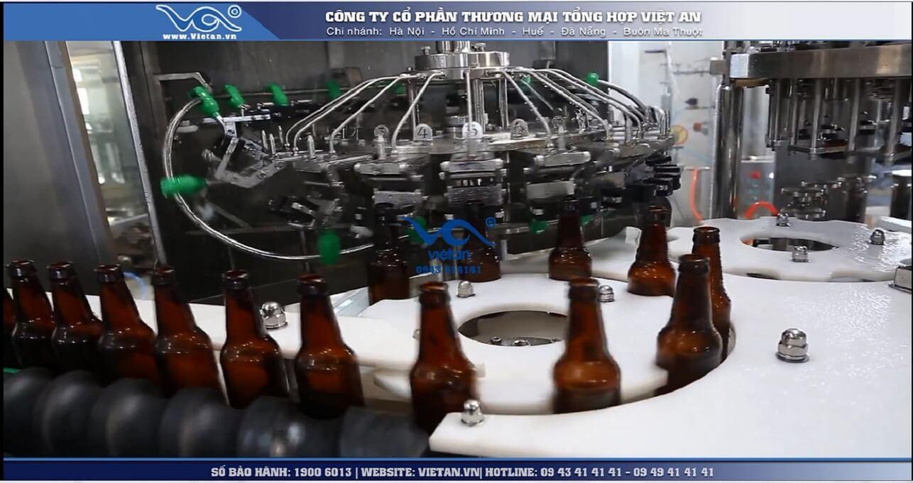 Máy chiết rót bia