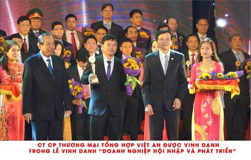 Việt An được vinh danh trong lễ vinh danh Doanh nghiệp hội nhập và phát triển