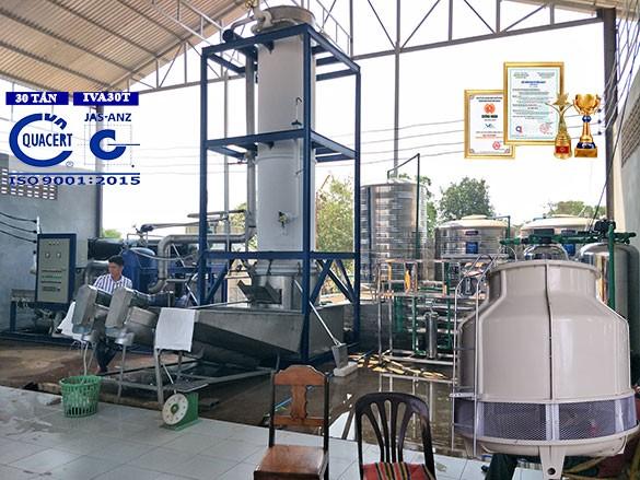 máy làm đá viên công nghiệp 30 tấn IVA30T
