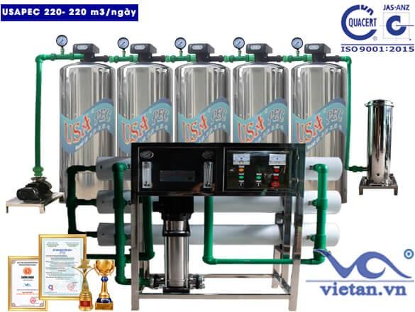 Hệ thống lọc nước usapec 220m3/ngày