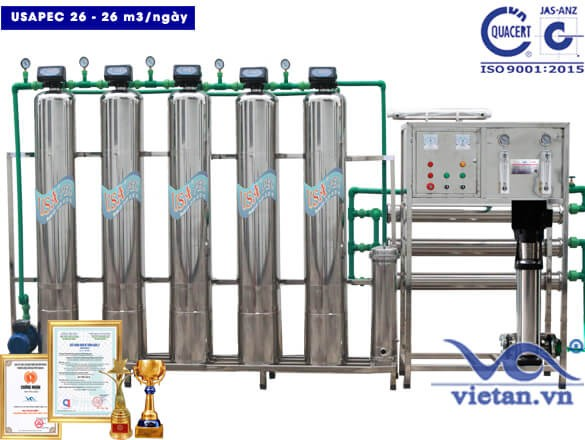 Hệ thống lọc nước usapec 26m3/ngày