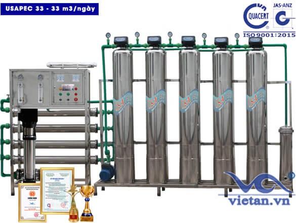 Hệ thống lọc nước usapec 33m3/ngày