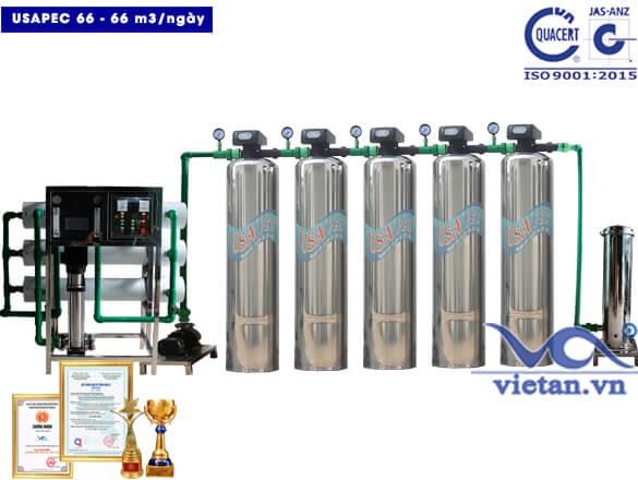 Hệ thống lọc nước usapec 66m3/ngày