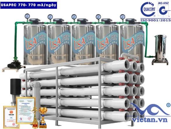 Hệ thống lọc nước usapec 770m3/ngày