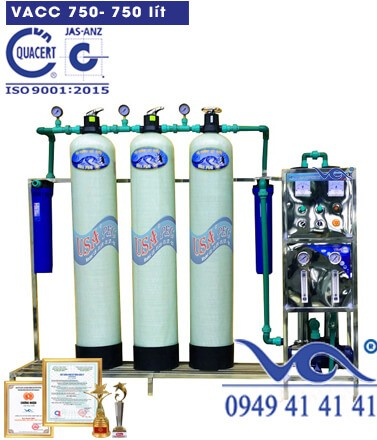 Dây chuyền lọc nước ro 750l-VACC750