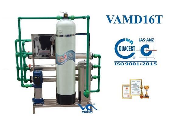 dây chuyền lọc nước ro cho máy đá VAMĐ16T