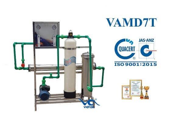 dây chuyền lọc nước ro cho máy đá VAMĐ7T