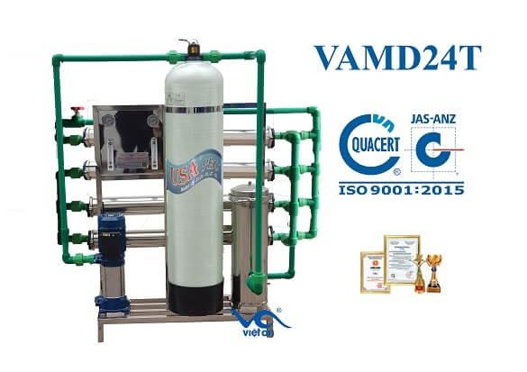 dây chuyền lọc nước cho máy đá VAMĐ24T