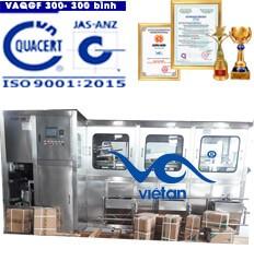Máy chiết rót bình 20l công suất 300 bình một giờ VAQGF300