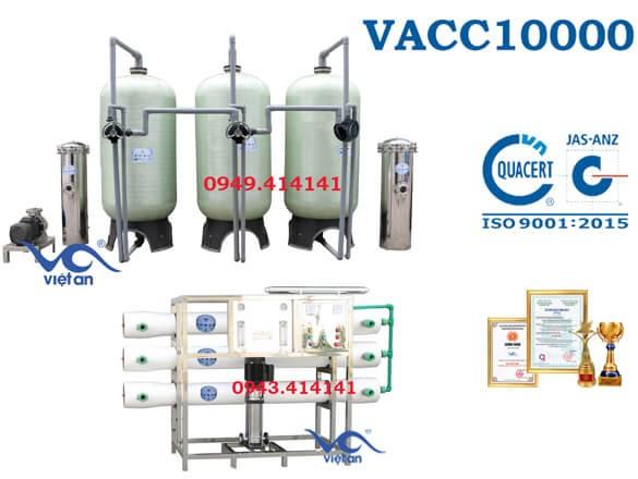 Dây chuyền lọc nước 10000l VACC10000