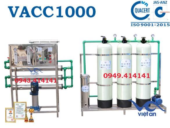 Dây chuyền lọc nước 1000l VACC1000