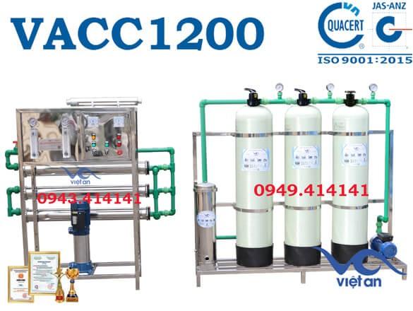 Dây chuyền lọc nước 1200l VACC1200