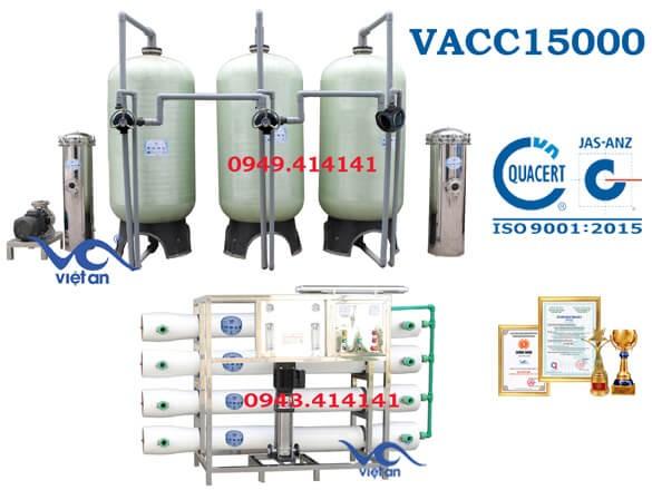Dây chuyền lọc nước 15000l VACC15000