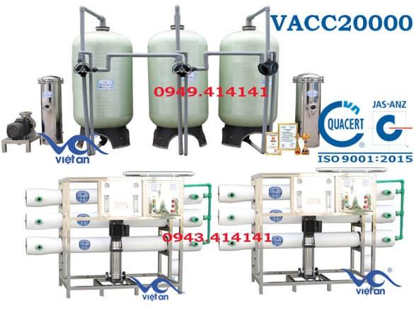 Dây chuyền lọc nước 20000l VACC20000