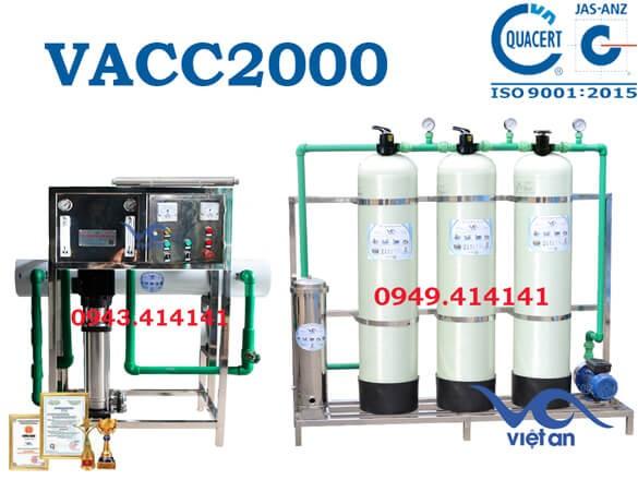 Dây chuyền lọc nước 2000l VACC2000