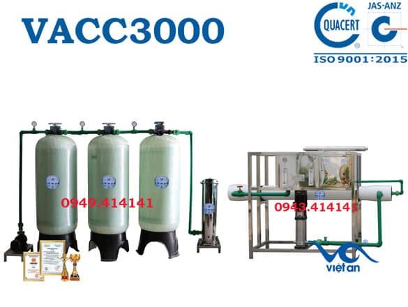 Dây chuyền lọc nước 3000l VACC3000