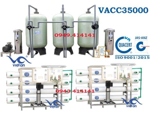 Dây chuyền lọc nước 35000l VACC35000