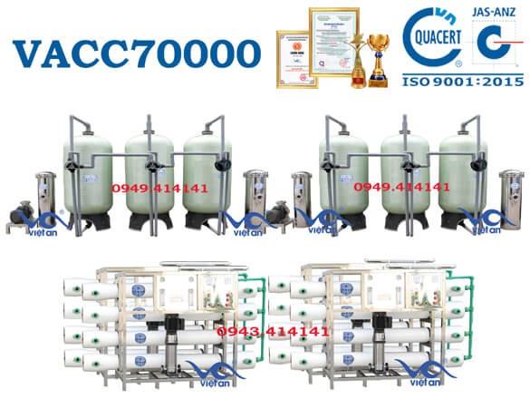 Dây chuyền lọc nước 70000l VACC70000