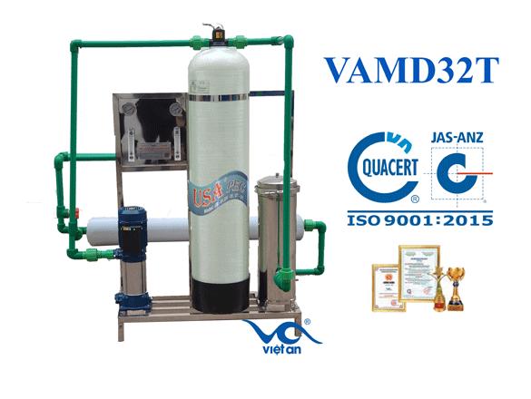 Dây chuyền lọc nước RO cho máy đá VAMĐ32T