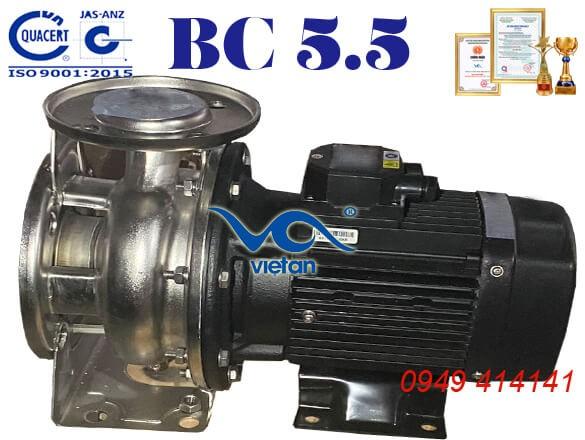 Máy bơm ly tâm trục ngang đầu inox BC 5.5