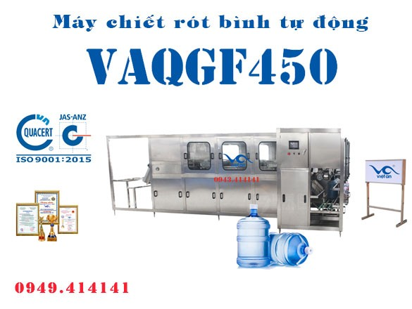 Máy chiết rót bình tự động VAQGF450