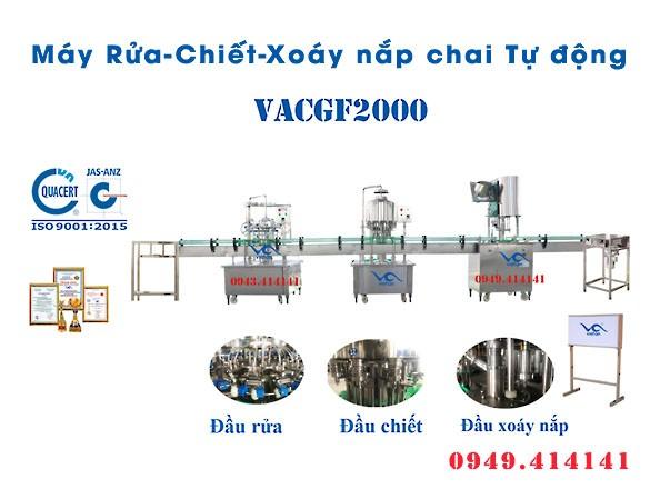 Máy chiết rót chai tự động VACGF2000