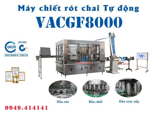 Máy chiết rót chai tự động VACGF8000