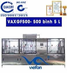 Máy rửa, chiết, đóng nắp bình 5L- VAXGF500