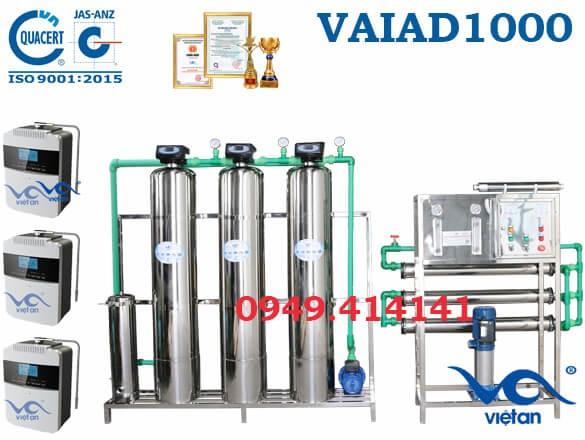 Dây chuyền lọc nước điện giải 1000 l/h VAIAD1000