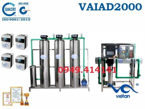 Dây chuyền lọc nước điện giải 2000 l/h VAIAD2000
