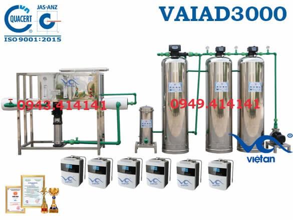 Dây chuyền lọc nước điện giải 3000 l/h VAIAD3000