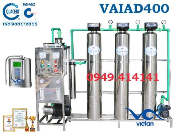 Dây chuyền lọc nước điện giải 400 l/h VAIAD400