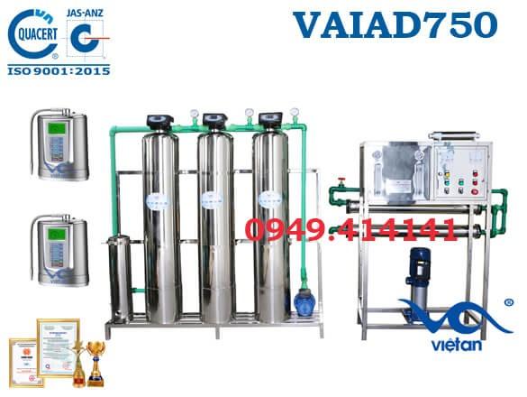 Dây chuyền lọc nước điện giải 750 l/h VAIAD750