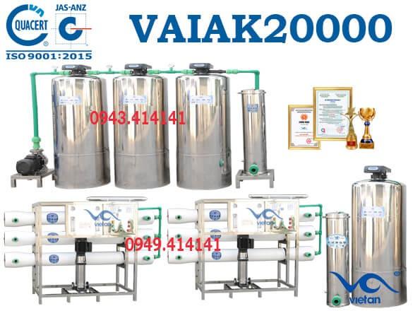dây chuyền lọc nước tạo khoáng 20000l VAIAK20000