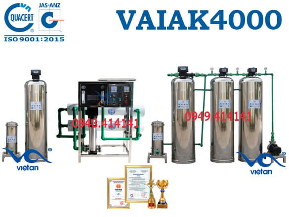 dây chuyền lọc nước tạo khoáng 4000l VAIAK4000