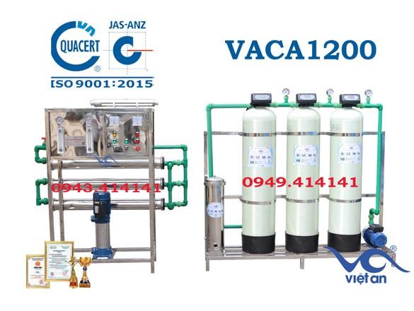 Dây chuyền lọc nước tinh khiết 1200l/h VACA1200