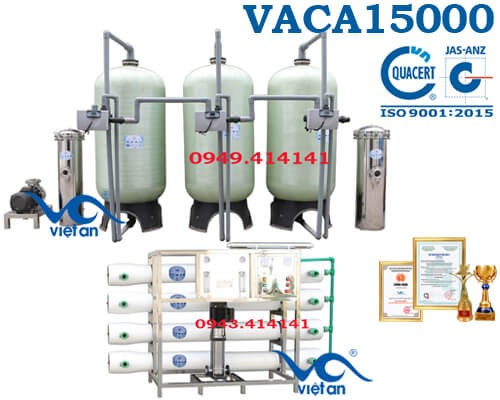 Dây chuyền lọc nước tinh khiết 15000l/h VACA15000
